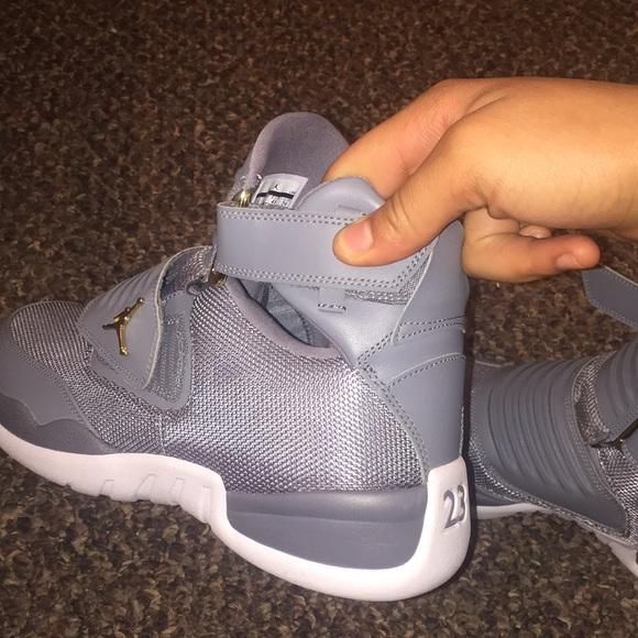 Jordan Shoes   Jordans Gray Strap Ons